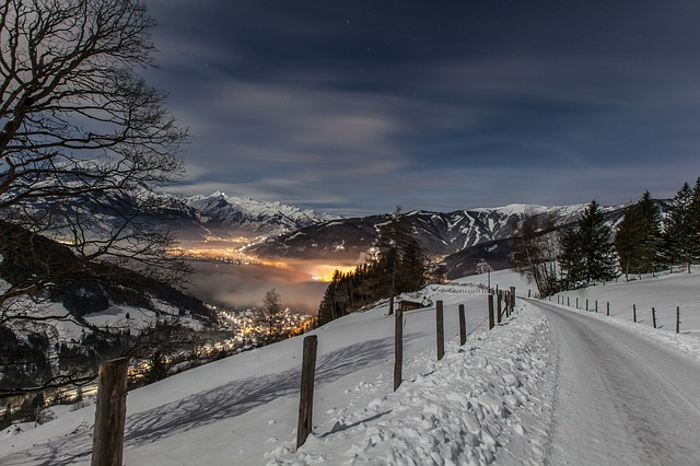 Ski alp night